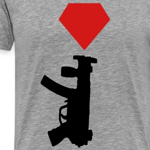 DIAMOND GUN RED T-Shirts - Men's Premium T-Shirt
