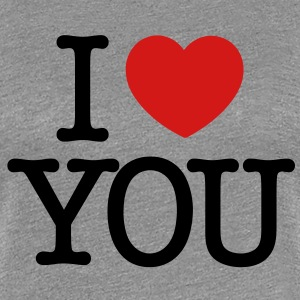 I love You (black text) Women's T-Shirts - Women's Premium T-Shirt