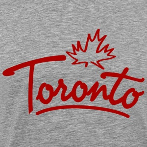 Toronto Leaf Script Heavyweight T-Shirt - Men's Premium T-Shirt