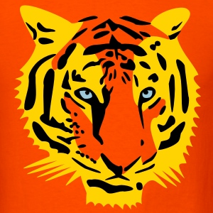 tiger head half - 3 color T-Shirts - Men's T-Shirt