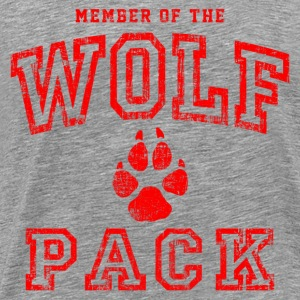 Wolf Pack Red T-Shirts - Men's Premium T-Shirt