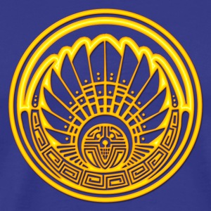 Crop circle - Mayan mask - gold - Silbury Hill 2009 - Quetzalcoatl - Native Americans - Aztec - Venus - 2012 - Symbol New Age / T-Shirts - Men's Premium T-Shirt