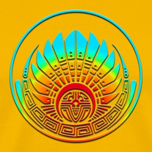 Crop circle - Mayan mask - Silbury Hill 2009 - Quetzalcoatl - Native Americans - Aztec - Venus - 2012 - icon new age / T-Shirts - Men's Premium T-Shirt