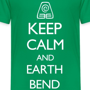 Keep Calm and Earth Bend VECTOR Kids' Shirts - Kids' Premium T-Shirt