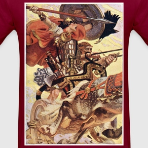 Cuchulain in Battle - Men's T-Shirt