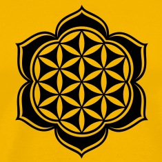 Flower of life, Lotus-Flower, vector 3, c, energy symbol, healing symbol T-Shirts