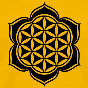 Flower of life, Lotus-Flower, vector 3, c, energy symbol, healing symbol T-Shirts - Men's Premium T-Shirt