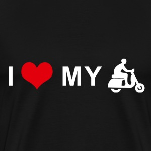 I LOVE MY MOTORCYCLE - Scooter T-Shirts - Men's Premium T-Shirt