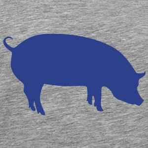 Psychic pig blue - Men's Premium T-Shirt