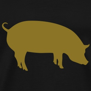 Psychic pig metalic gold - Men's Premium T-Shirt