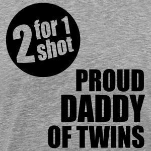 2for1 proud daddy of twins Shirt BH - Men's Premium T-Shirt