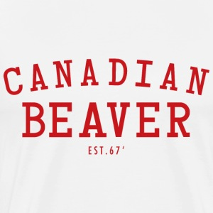 Canadian Beaver 67 W  - Men's Premium T-Shirt
