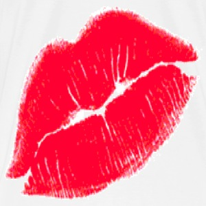 Red Kissing Lips T-Shirts - Men's Premium T-Shirt