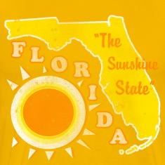 Florida, The Sunshine State Mens vintage T
