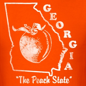Georgia The Peach State Mens vintage T shirt - Men's T-Shirt