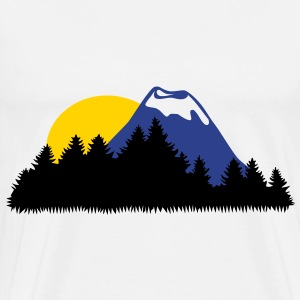 Landscape, Mountain, Wood, Forrest, Sun T-Shirts - Men's Premium T-Shirt