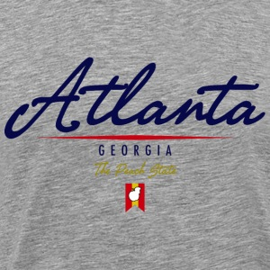 Atlanta Script Heavyweight T-Shirt - Men's Premium T-Shirt