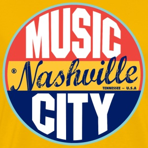 Nashville Vintage Label Heavyweight T-Shirt - Men's Premium T-Shirt