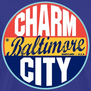 Baltimore Vintage Label Heavyweight T-Shirt - Men's Premium T-Shirt