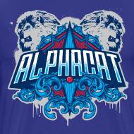 Design ~ Alphacat Men's 3XL/4XL Tee - Royal Blue