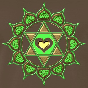 LOTUS OF THE HEART - Heart chakra - Anahata, green, Centre of love and compassion, powerful symbol T-Shirts - Men's Premium T-Shirt