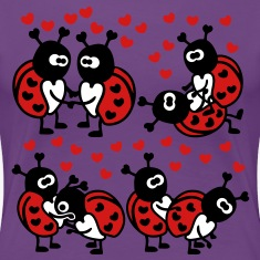 Ladybugs in Love Women's T-Shirts