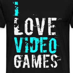 i love video games v1 T-Shirts - Men's Premium T-Shirt