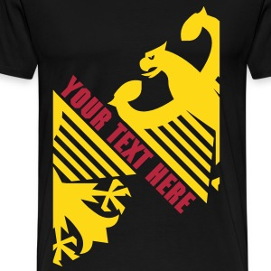 German Eagle, Personalize, Made in Germany - Men's Premium T-Shirt