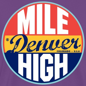 Denver Vintage Label Heavyweight T-Shirt - Men's Premium T-Shirt