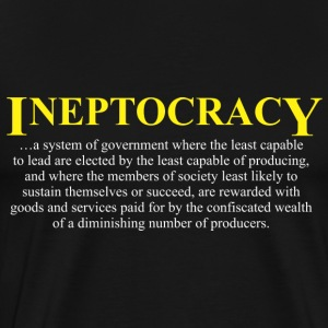 Ineptocracy definition T-Shirts - Men's Premium T-Shirt