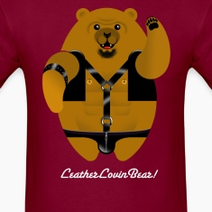 LEATHER LOVIN BEAR! T-Shirts