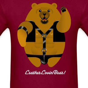 LEATHER LOVIN BEAR! T-Shirts - Men's T-Shirt