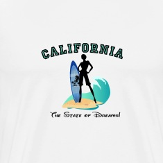 """CALIFORNIA: State of Dreams!"" T-Shirts"