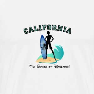 CALIFORNIA: State of Dreams! T-Shirts - Men's Premium T-Shirt