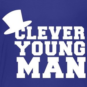 clever young man with a top hat educated Baby & Toddler Shirts - Toddler Premium T-Shirt