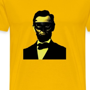 ABRAHAM LINCOLN ON THE TOWN IN MASK  - Men's Premium T-Shirt