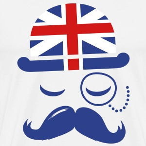 Vintage English Gentleman Sir Boss with Moustache T-Shirts - Men's Premium T-Shirt