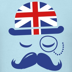 Vintage English Gentleman Sir Boss with Moustache T-Shirts - Men's T-Shirt