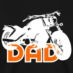 Biker DAD White/Orange Motorcycle Shirt WB