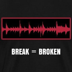 Amen Break Waveform - Break = Broken - Men's Premium T-Shirt