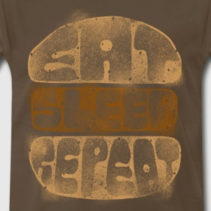 eat sleep repeat T-Shirts - Men's Premium T-Shirt