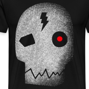Cyborg_skull_red_eye T-Shirts - Men's Premium T-Shirt