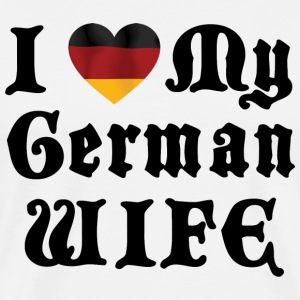 I Love My German Wife T-Shirt - Men's Premium T-Shirt