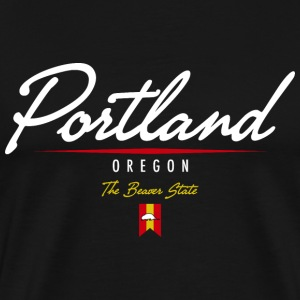 Portland Script Heavyweight T-Shirt - Men's Premium T-Shirt