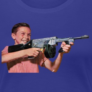 Vintage retro machine gun kid - Women's Premium T-Shirt