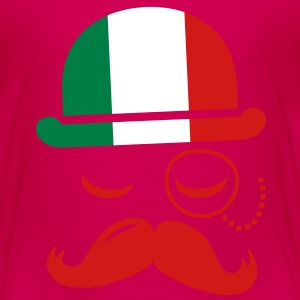 Italian nation fashionable vintage iconic gentleman with flag and Moustache olympics sports italy country Toddler Shirts - Toddler Premium T-Shirt
