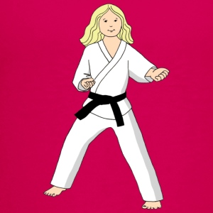 Blonde girl with Taekwondo Princess and name on back  - Kids' Premium T-Shirt