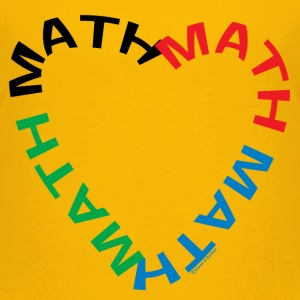 Math Text Heart   Kids' Shirts - Kids' Premium T-Shirt