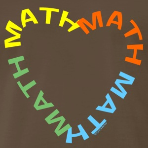 Math Text Heart   T-Shirts - Men's Premium T-Shirt