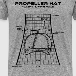 Propeller Hat Flight Dynamics - Men's Premium T-Shirt